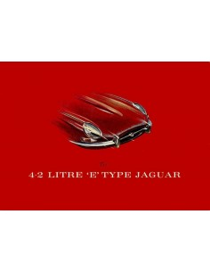 1965 JAGUAR E TYPE 4.2 LITRE BROCHURE ENGELS