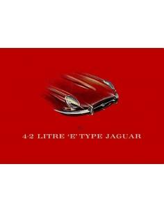 1965 JAGUAR E TYPE 4.2 LITRE BROCHURE ENGELS