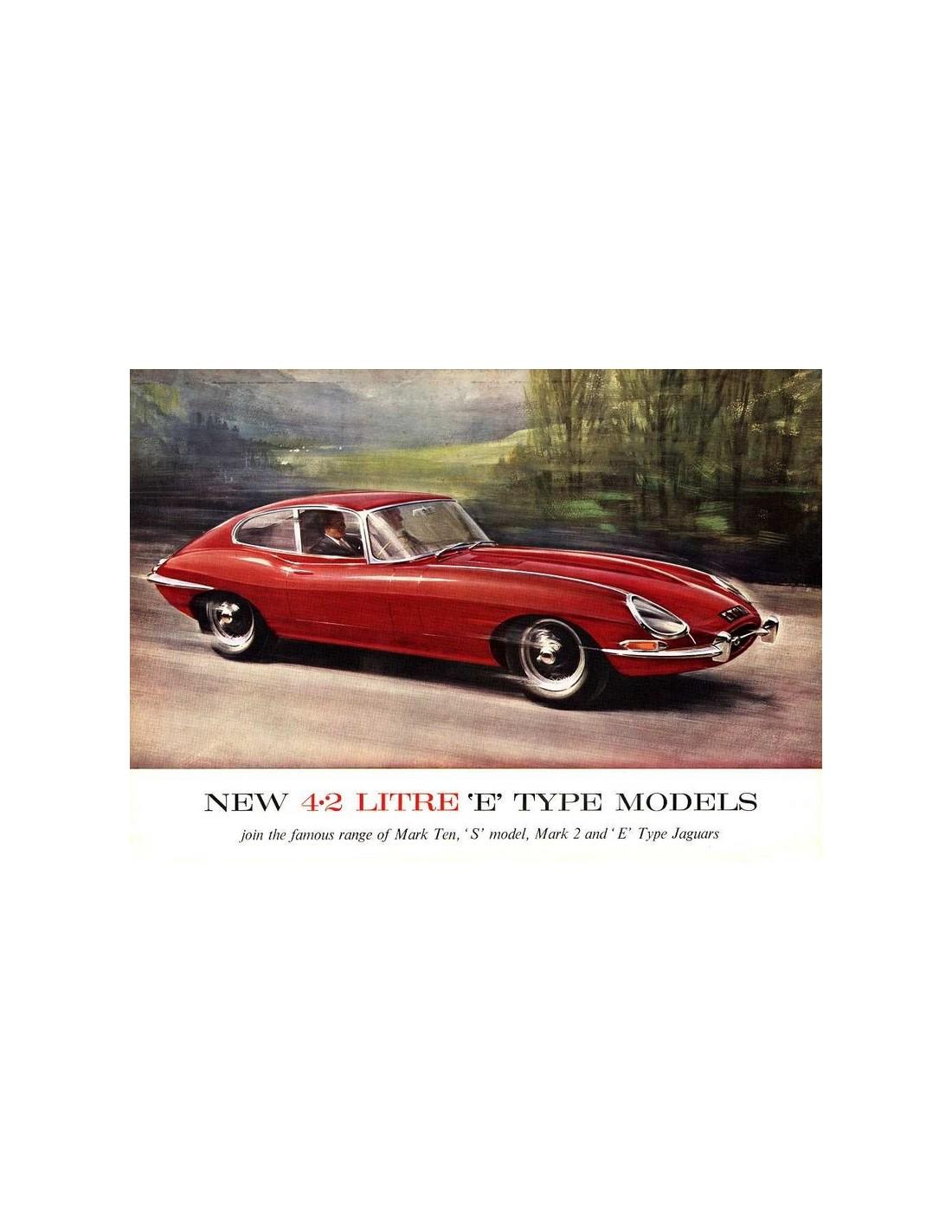 1966 Jaguar Xke Convertible: 1965 JAGUAR E TYPE 4.2 LITRE BROCHURE ENGLISH