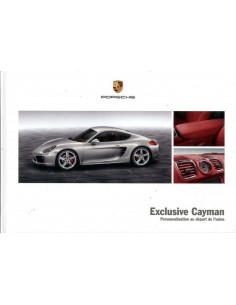 2014 PORSCHE CAYMAN EXCLUSIVE HARDCOVER BROCHURE FRANS