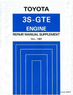1987 TOYOTA CELICA 4WD 3S-GTE MOTOR WERKPLAATSHANDBOEK ENGELS