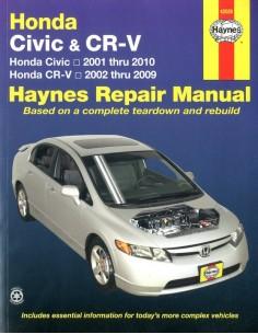 2001 - 2010 HONDA CIVIC & CR-V HAYNES VRAAGBAAK ENGELS