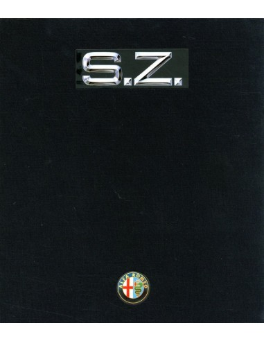 1990 ALFA ROMEO SZ HARDCOVER BROCHURE DUITS