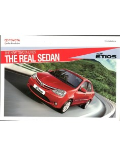 2014 TOYOTA ETIOS BROCHURE ENGLISH