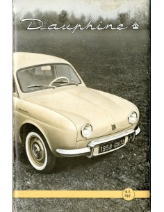 1958 RENAULT DAUPHINE INSTRUCTIEBOEKJE NEDERLANDS