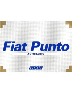 1999 FIAT PUNTO AUTORADIO INSTRUCTIEBOEKJE NEDERLANDS