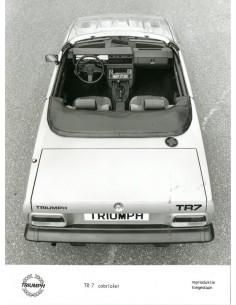1980 TRIUMPH TR7 CABRIOLET PERSFOTO