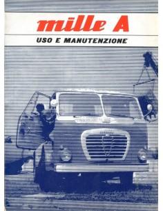 1962 ALFA ROMEO MILLE A INSTRUCTIEBOEKJE ITALIAANS