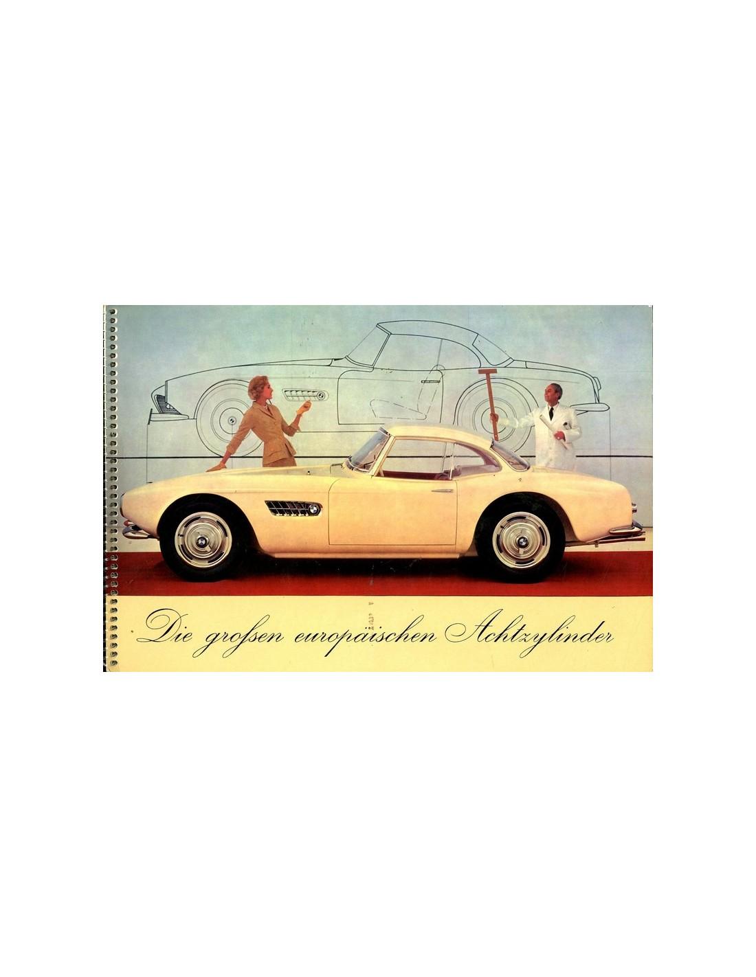 Bmw Z3 Brochure: 1957 BMW 502 503 507 V8 BROCHURE GERMAN