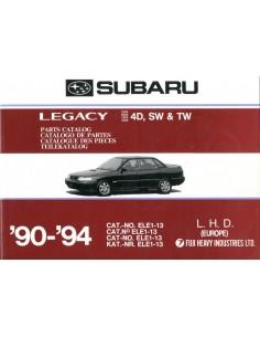 1990 - 1994 SUBARU LEGACY ONDERDELENHANDBOEK