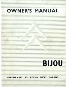 1961 CITROËN BIJOU INSTRUCTIEBOEKJE ENGELS