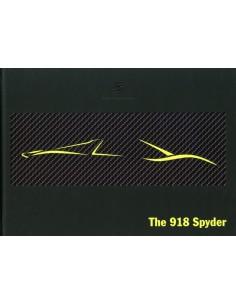 2012 PORSCHE 918 SPYDER HARDCOVER BROCHURE ENGELS