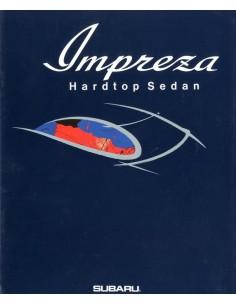 1992 SUBARU IMPREZA HARDTOP SEDAN BROCHURE JAPANS