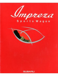 1992 SUBARU IMPREZA SPORTS WAGON BROCHURE JAPANS