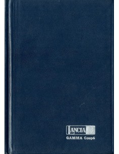 1977 LANCIA GAMMA COUPE HARDCOVER INSTRUCTIEBOEKJE ITALIAANS