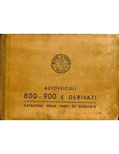 1955 ALFA ROMEO 800 900 ONDERDELENHANDBOEK ITALIAANS