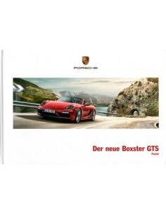 2014 PORSCHE BOXSTER GTS HARDCOVER BROCHURE DUITS