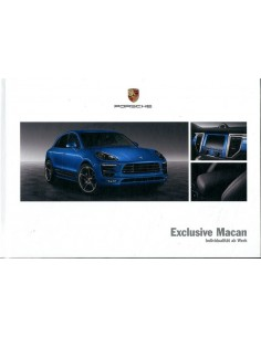 2015 PORSCHE MACAN EXCLUSIVE HARDCOVER BROCHURE DUITS