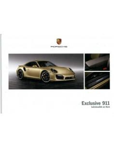 2013 PORSCHE 911 CARRERA EXCLUSIVE HARDCOVER BROCHURE DUITS