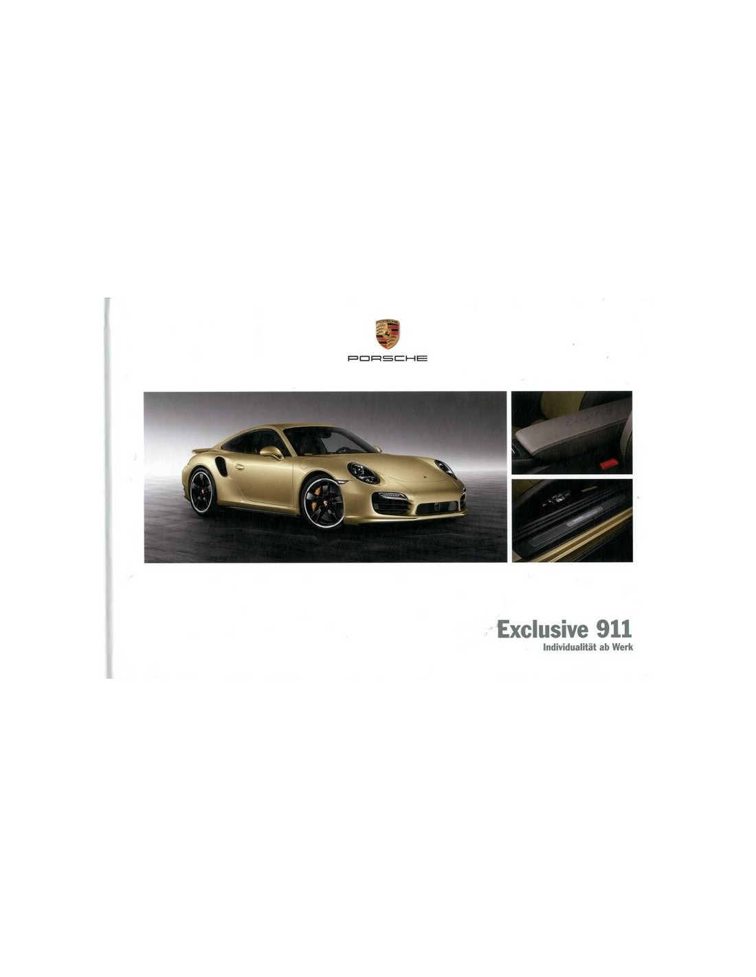 2013 Porsche 911 Carrera Exclusive Hardcover Brochure Duits