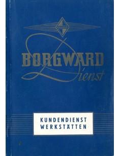 1955 BORGWARD DEALER SERVICE BOEK DUITS