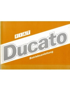 1986 FIAT DUCATO INSTRUCTIEBOEKJE DUITS