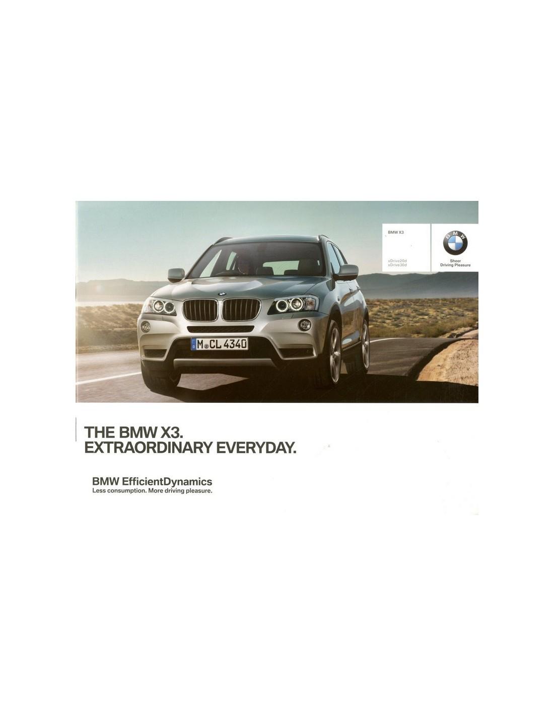 Bmw Z3 Brochure: 2013 BMW X3 BROCHURE ENGELS (INDIA
