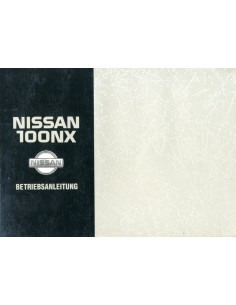 1993 NISSAN 100NX INSTRUCTIEBOEKJE DUITS