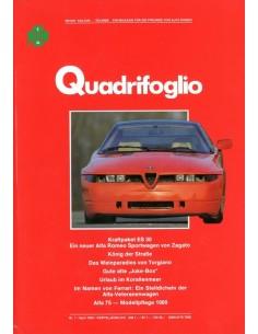 1989 ALFA ROMEO QUADRIFOGLIO MAGAZINE 2 DUITS