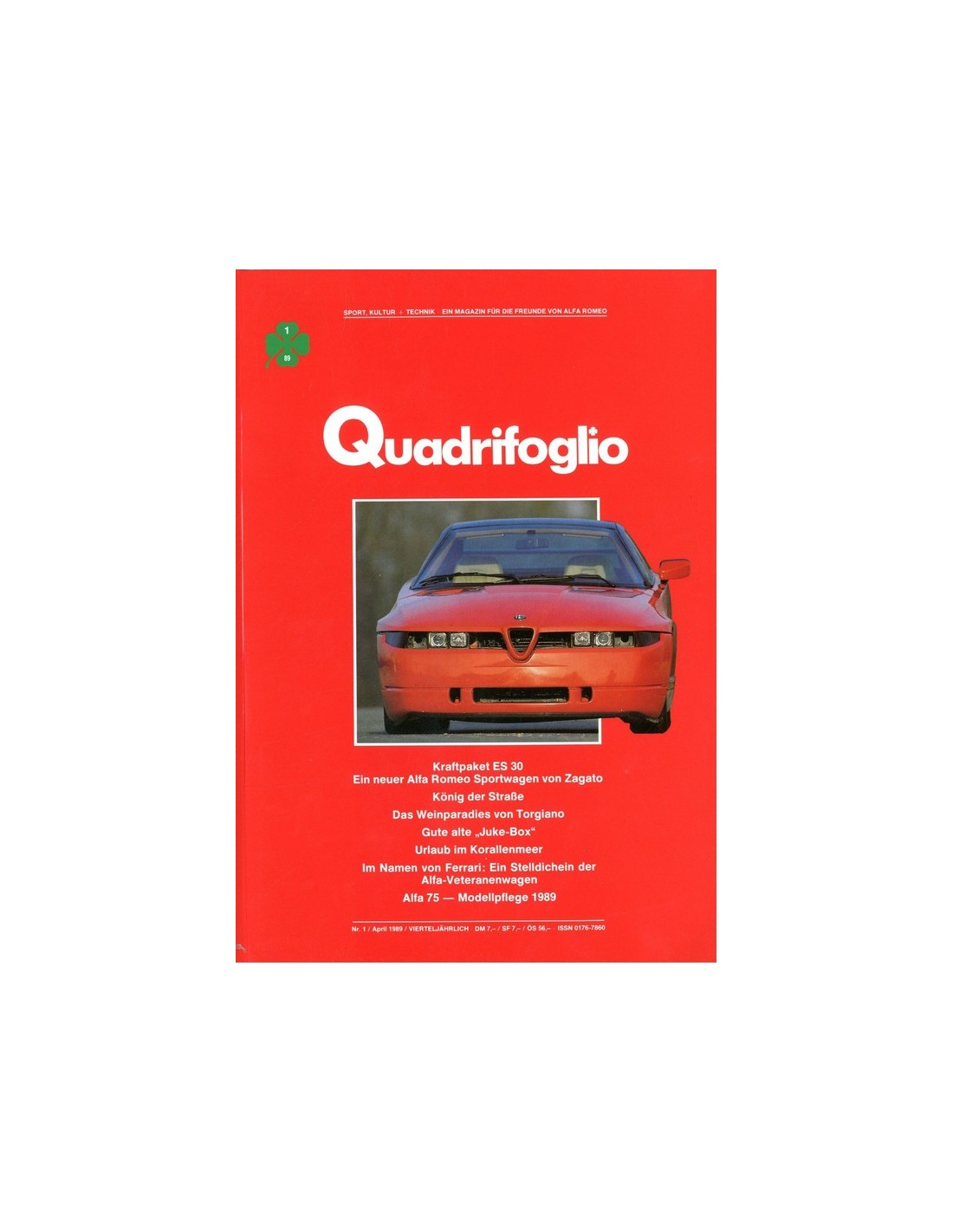 1989 ALFA ROMEO QUADRIFOGLIO MAGAZINE 1 GERMAN