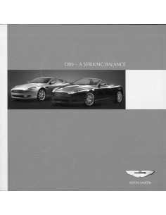 2005 ASTON MARTIN DB9 BROCHURE ENGLISH