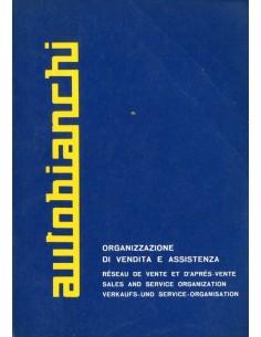 1966 AUTOBIANCHI DEALER SERVICE BOEK