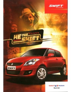 2013 MARUTI SUZUKI SWIFT BROCHURE ENGELS