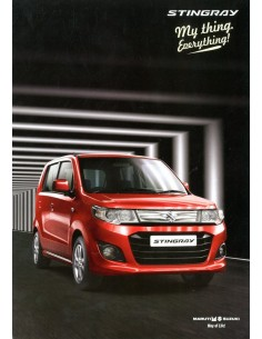 2013 MARUTI SUZUKI STINGRAY BROCHURE ENGELS