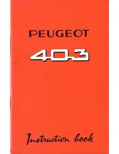 1963 PEUGEOT 403 INSTRUCTIEBOEKJE ENGELS