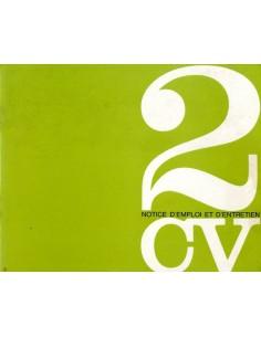 1964 CITROEN 2CV INSTRUCTIEBOEKJE FRANS