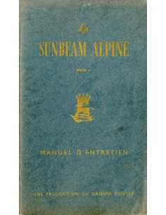 1960 SUNBEAM ALPINE SERIE II INSTRUCTIEBOEKJE FRANS