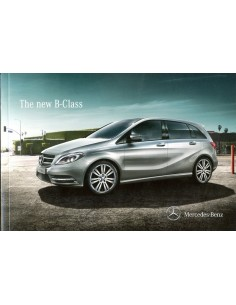 2013 MERCEDES BENZ B KLASSE BROCHURE ENGELS (INDIA)