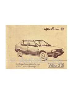 1983 ALFA ROMEO 33 OWNERS MANUAL HANDBOOK GERMAN