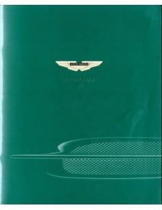 2001 ASTON MARTIN DB7 VANTAGE BROCHURE DUITS