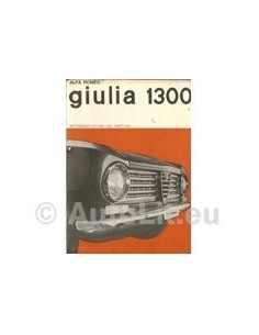 1965 ALFA ROMEO GIULIA 1300 INSTRUCTIEBOEKJE DUITS
