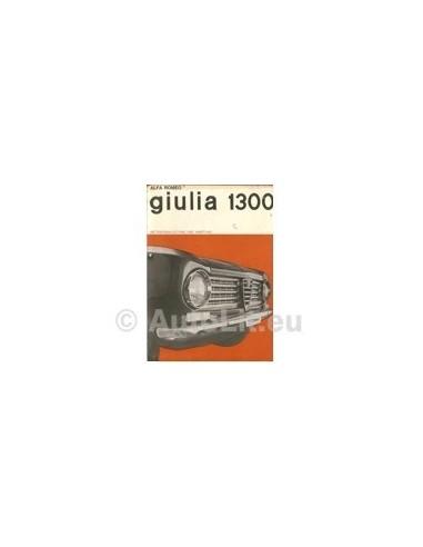 1964 ALFA ROMEO GIULIA 1300 INSTRUCTIEBOEKJE DUITS