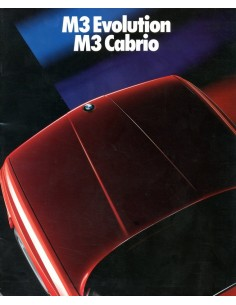 1988 BMW M3 EVOLUTION & CABRIO BROCHURE DUITS