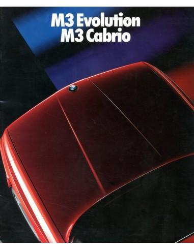 1988 BMW M3 EVOLUTION & CABRIO BROCHURE DUITS
