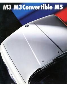 1989 BMW M3 CABRIOLET M5 BROCHURE ENGELS