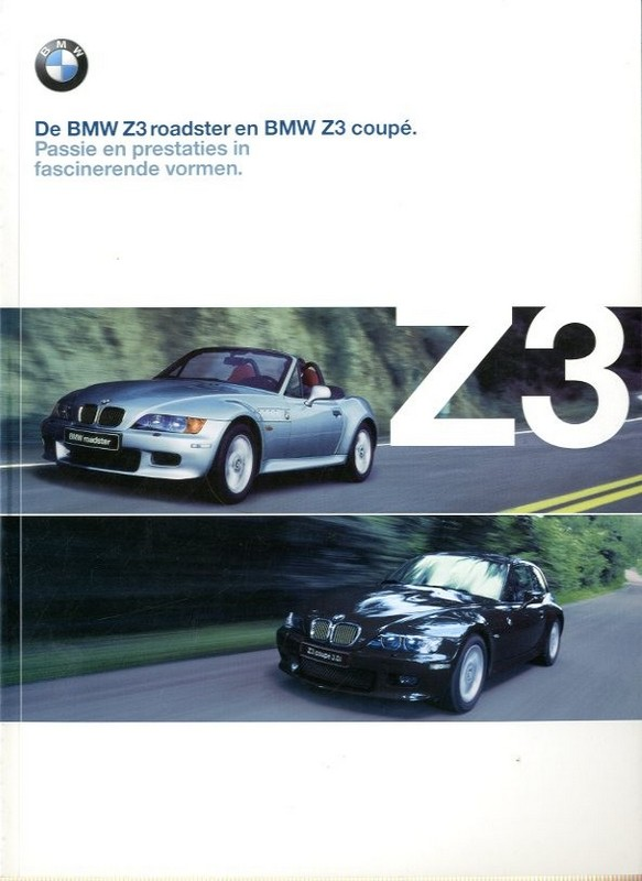 Bmw Z3 Brochure 2000 Bmw Z3 Roadster Coupe Brochure Dutch
