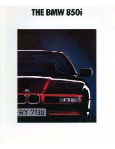 1992 BMW 8 SERIE COUPE BROCHURE ENGELS