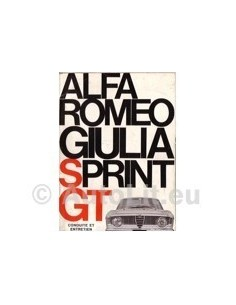 1966 ALFA ROMEO GIULIA SPRINT GT + VELOCE OWNERS MANUAL FRENCH