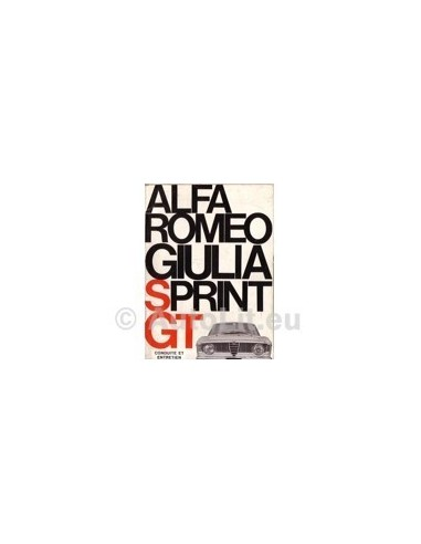 1966 ALFA ROMEO GIULIA SPRINT GT + VELOCE INSTRUCTIEBOEKJE FRANS