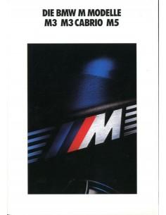 1990 BMW M3 CABRIOLET M5 BROCHURE DUITS